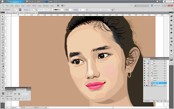 faby-marcelia-gambar-vector-using-adobe-illustrator