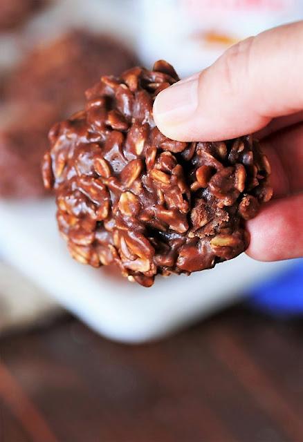 Fudgy Nutella No-Bake Cookie Image