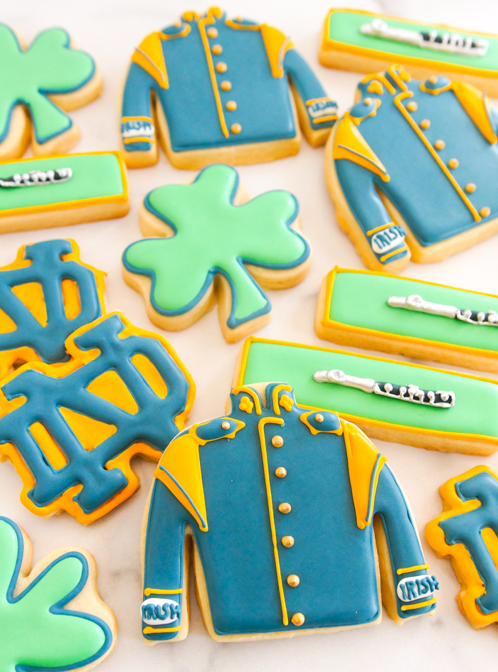 Notre Dame Marching Band and Piccolo Cookies