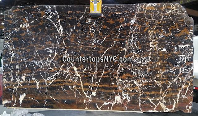 Black Michelangelo Marble Slab NYC
