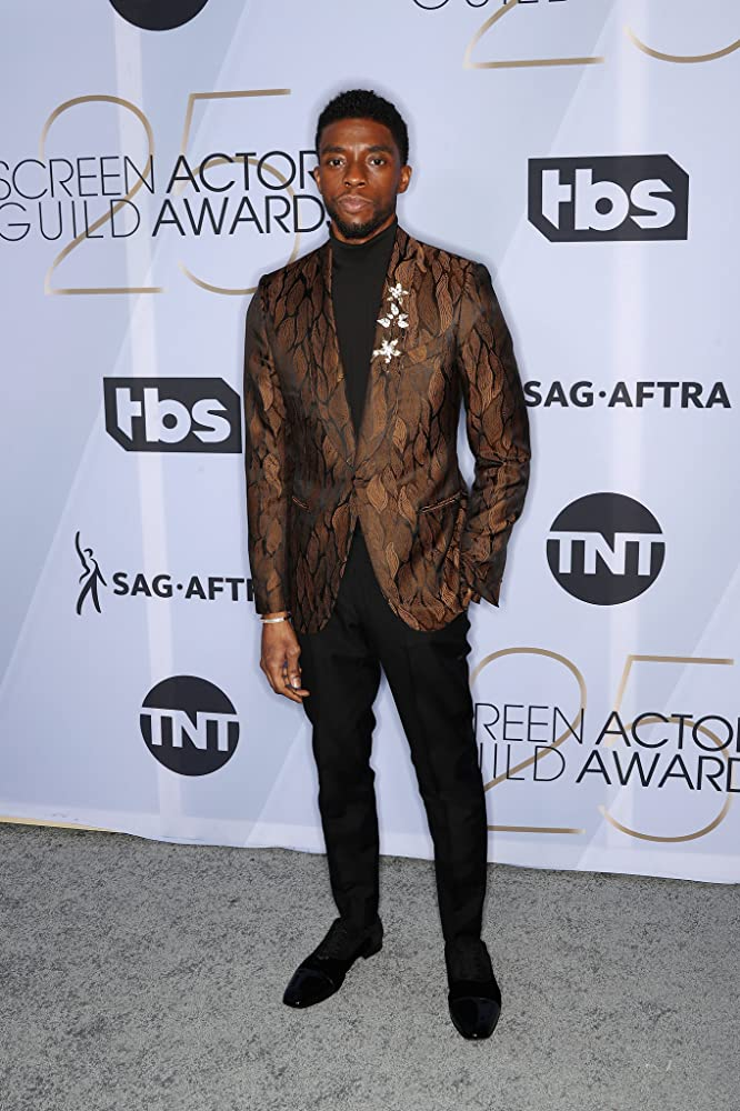 Chadwick Boseman at an event for The 25th Annual Screen Actors Guild Awards (2019)
