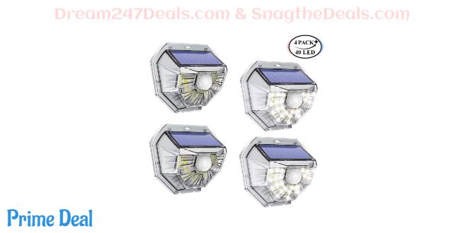 50% OFF Solar motion sensor security light (4-Pack)