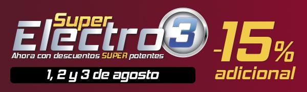 Super Electro 3 El Corte Inglés 1 a 3 de agosto de 2016