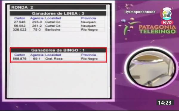 Un ganador roquense ganó 300 mil pesos en el Patagonia Telebingo