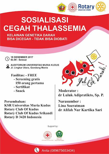 Kamu, Apakah Penderita Thalasemia ?