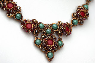 Collier Avalon / necklace Avalon beading fädeln