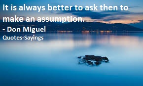 assumptions quotes