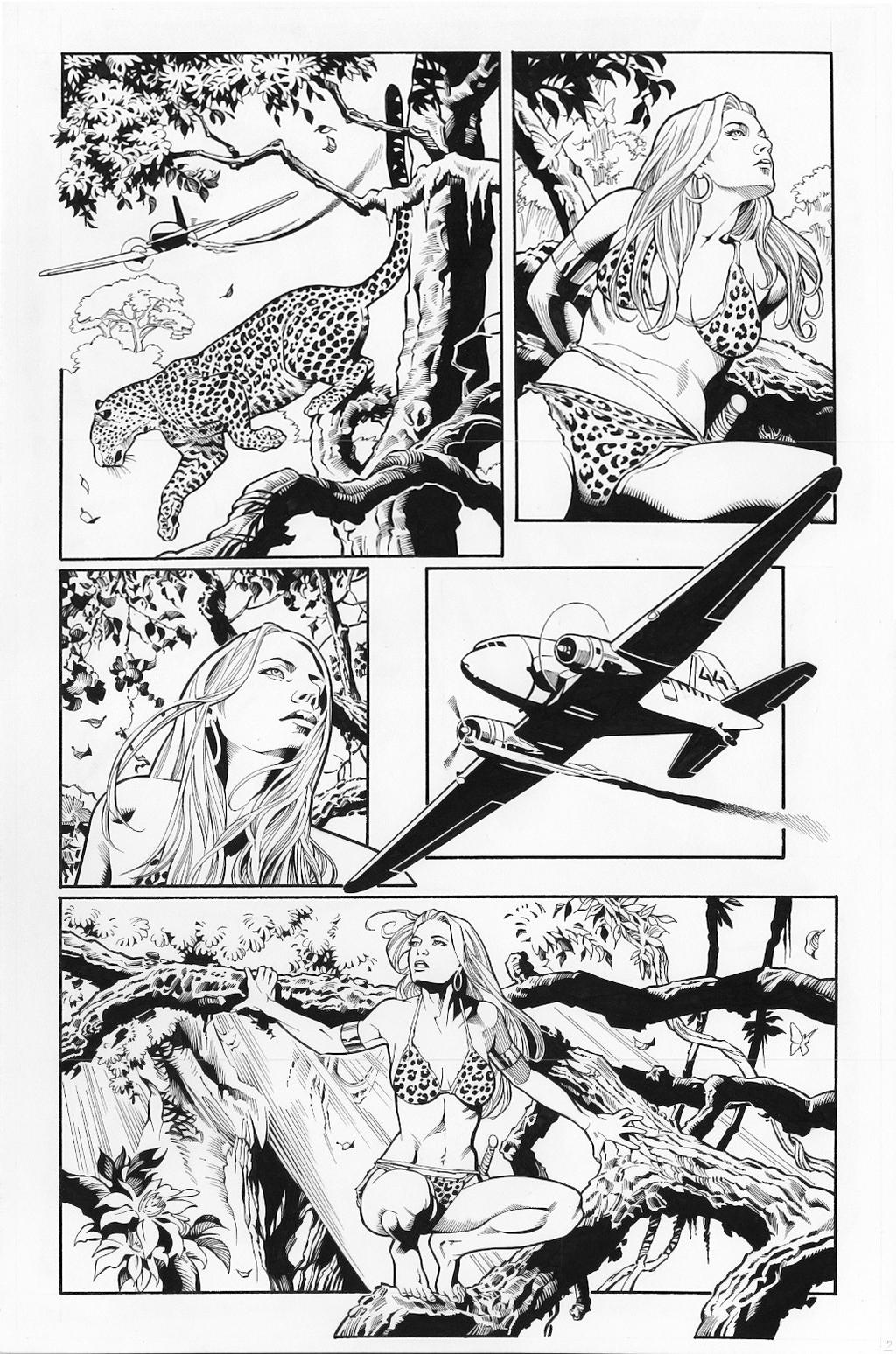 Sheena, Queen of the Jungle is a fictional American comic book jungle girl heroine, originally published primarily by Fiction House.