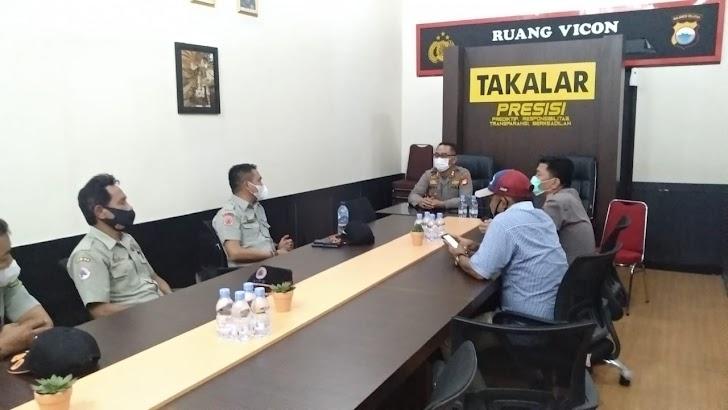 Terima Kunjungan Kepala BPBD Takalar, Kapolres Harapkan Sinergitas