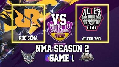 Rrq sena vs alter ego nma season 2, strategi harith tak berlaku.