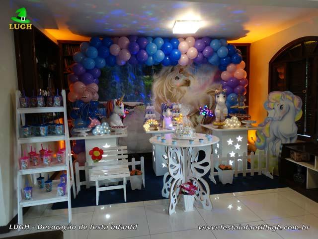 Tema Unicórnio - Decoração de mesa temática - Festa feminina