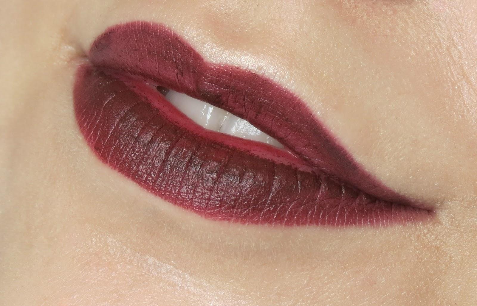 MAC Sin Matte Lipstick Review