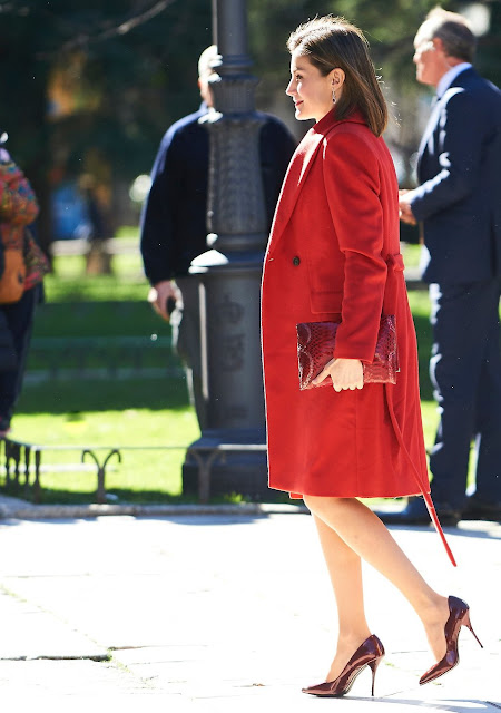 King Felipe VI of Spain, Queen Letizia of Spain attended the meeting of the Board of Patronage of the Prado Museum at Museo del Prado