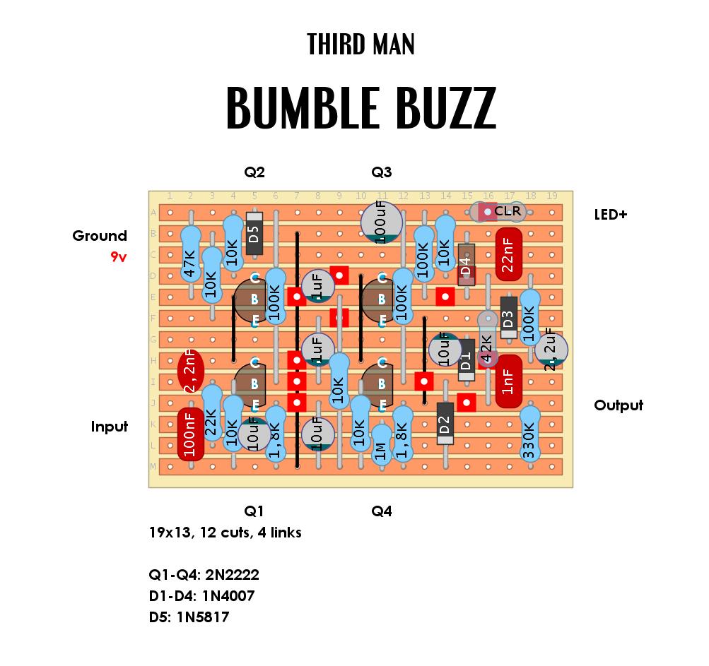 Schematic bumble buzz pedal Analog Man