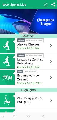 تحميل تطبيق wow sports live الجديد لمشاهدة جميع القنوات sport