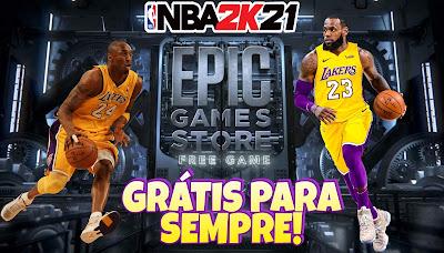 Nba2k21 grátis Epic Games