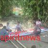 Bhabinkamtibmas Desa Kadatong   Gotong Royong Dirikan Posko Balla Ewako Bersama Warga