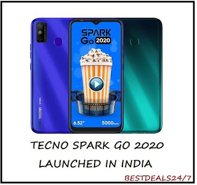 Tecno Spark Go 2020 Launched in India