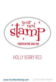 Premium Dye Ink Pad Holly Berry Red