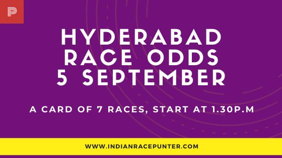 Hyderabad Race Odds 5 September