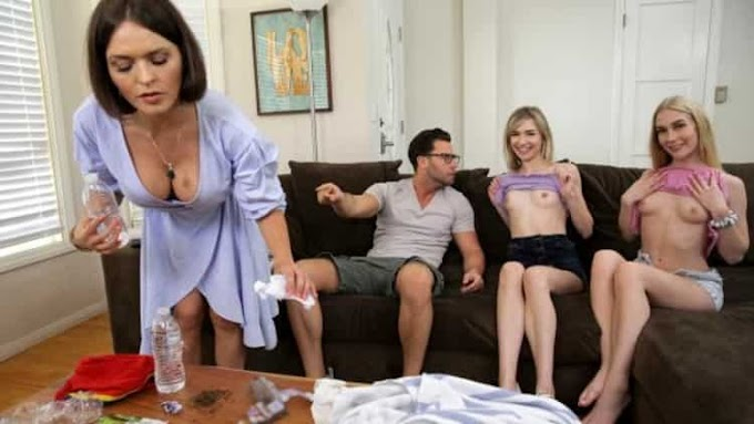 Emma Starletto, Mackenzie Moss in My Friends And I Flash Our Tits To My Brother - Bratty Sis