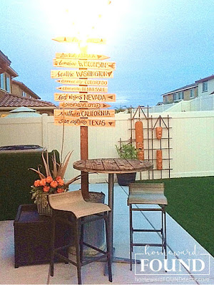 mid-century modern. contemporary, vintage, kitsch, tiki bar, backyard, home decor, diy, wood, trellises, painted, makeover