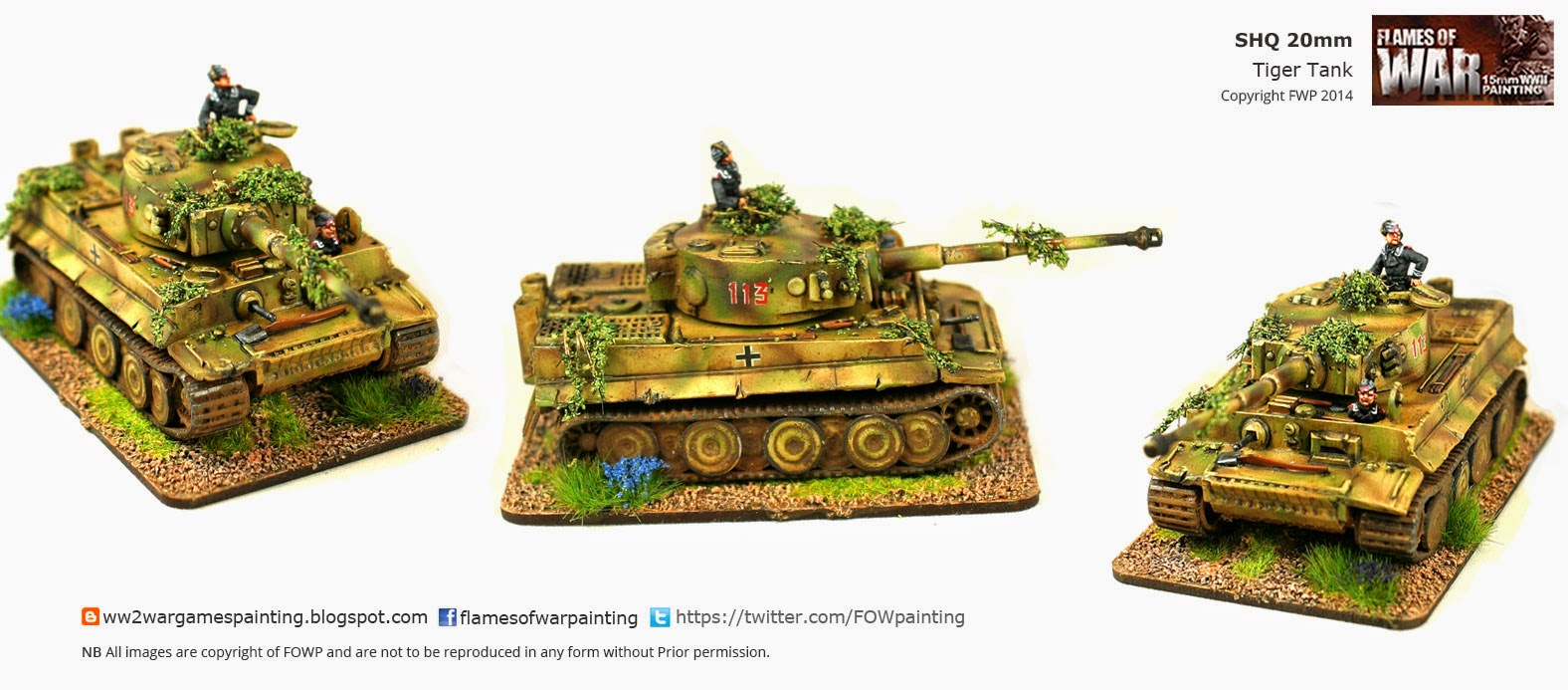 SHQ 20mm Tiger Tank painted by FOWP