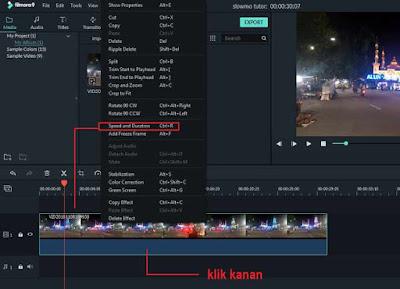 tutorial slowmotion filmora