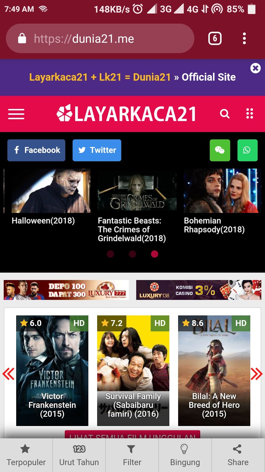 download film gratis di android