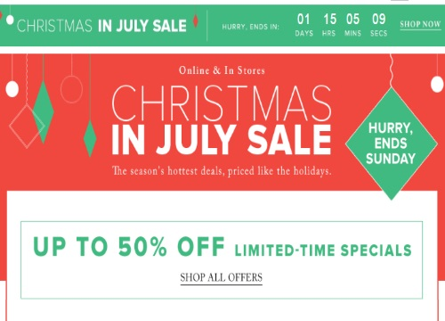 Hudson's Bay Christmas In July Sale