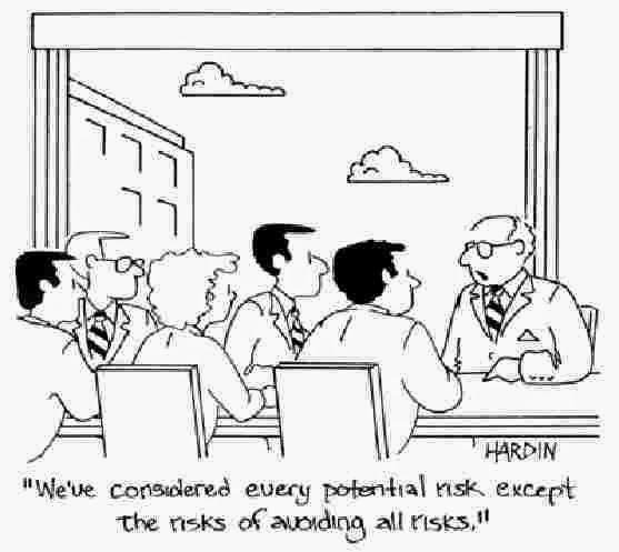Office Risk Management Discussion Very Funny Humor Cartoon