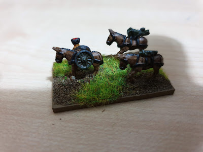 Pendraken Miniatures  NW11 Pack mule team with mountain gun picture 1