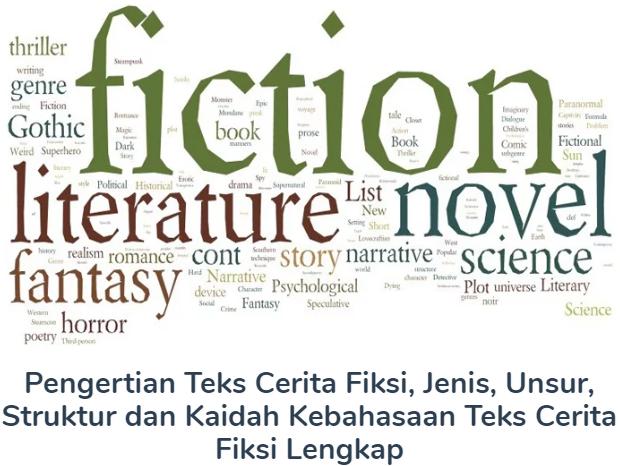 Membahas Materi Pengertian Teks Cerita Fiksi Beserta Jenis, Unsur, Struktur dan Kaidah Kebahasaan Teks Cerita Fiksi Lengkap