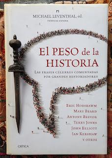Portada del libro El peso de la historia, de Michael Leventhal