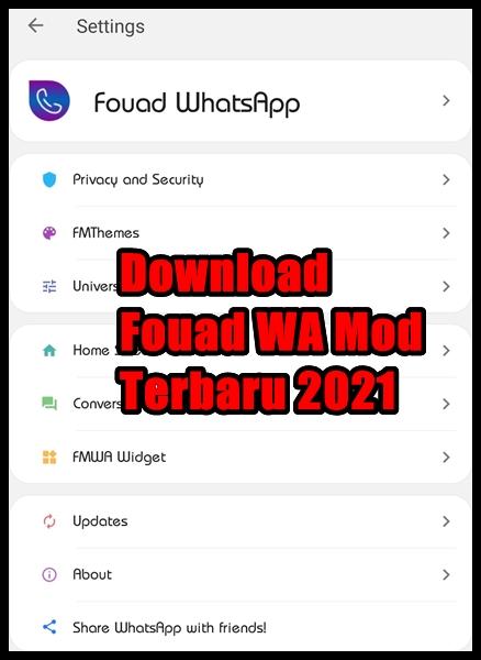 Download Fouad WA Mod Terbaru 2021