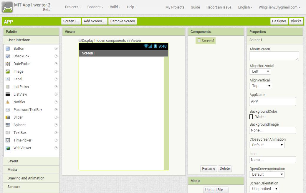 用視覺化語言學手機程式設計:App Inventor 2: 第二章 App Inventor 環境與基本操作