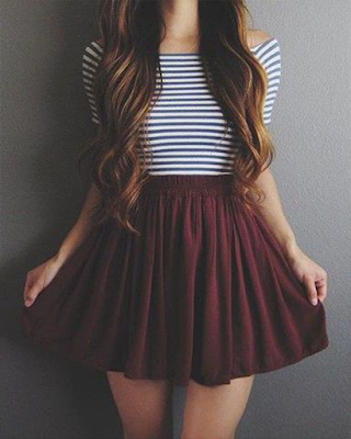 Outfit juvenil con falda tumblr