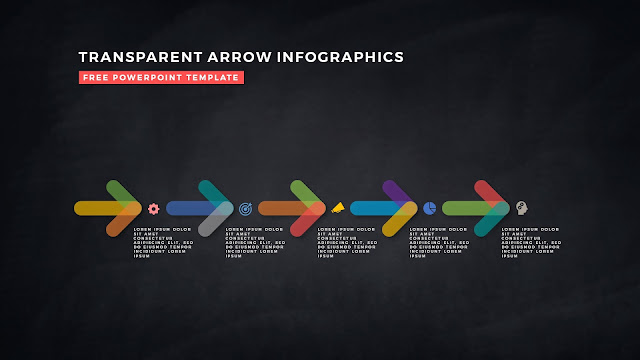 Transparent Arrow Design Elements for Free PowerPoint Template Slide 20
