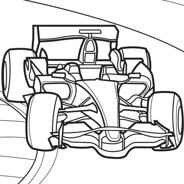Menggambar Mobil Balap dengan Kata Formula 1