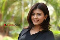 Actress Hebah Patel Stills in Black Mini Dress at Angel Movie Teaser Launch  0160.JPG