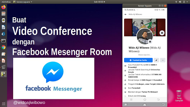 Cara Membuat Video Converence dengan Facebook Messenger Room