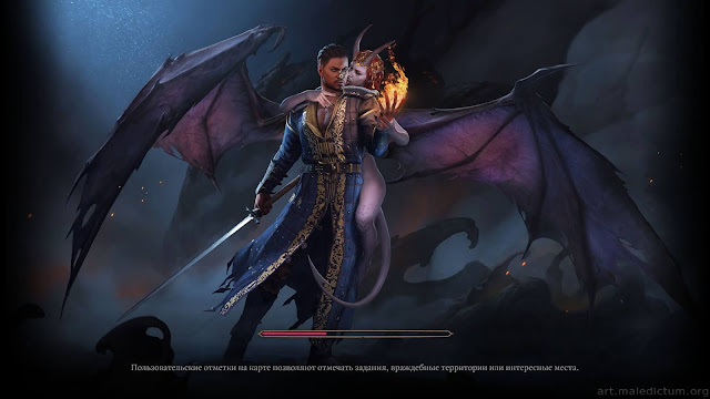 Baldurs Gate 3: изображение суккуба на заставке