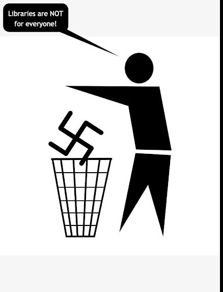 Nazis go in the trash