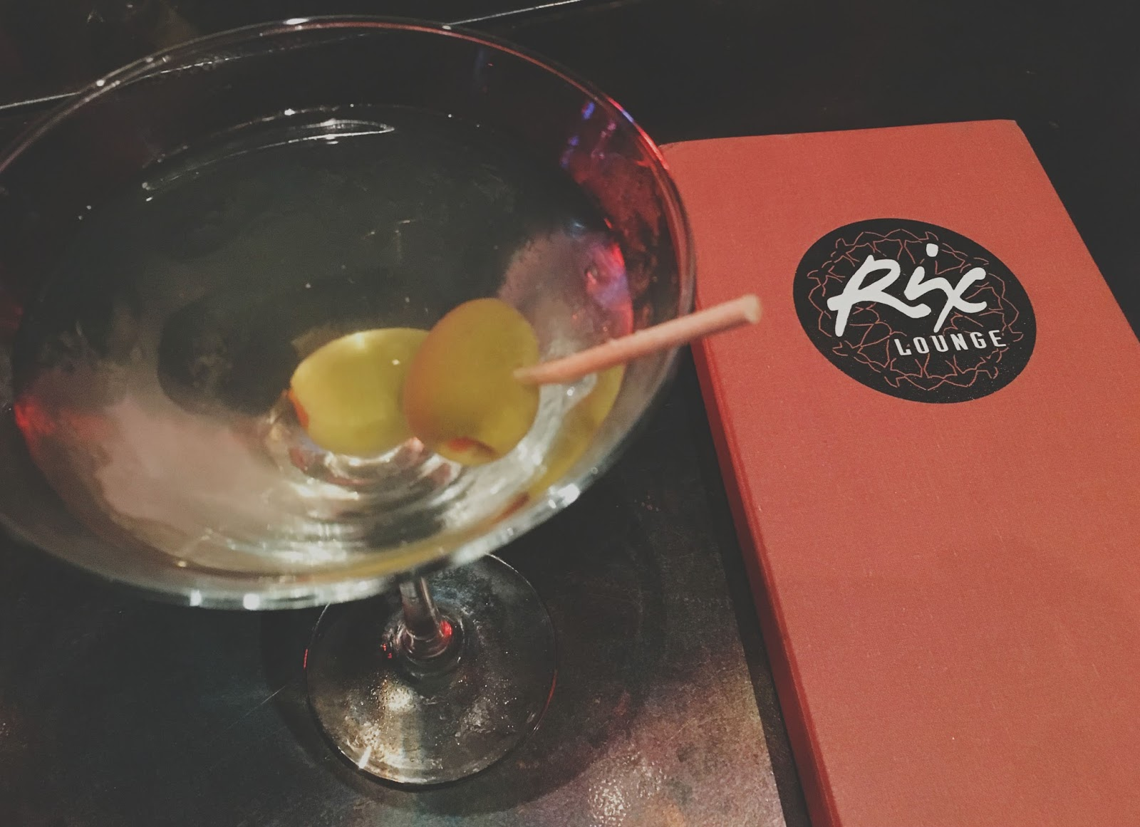 martini at Rix Lounge in Disney World, Florida
