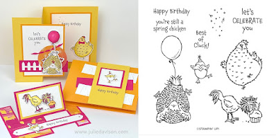 Stampin' Up! Hey Birthday Chick  Card Kit  ~ January-June 2021 Mini Catalog ~ Stamp of the Month Club Card Kit ~ www.juliedavison.com