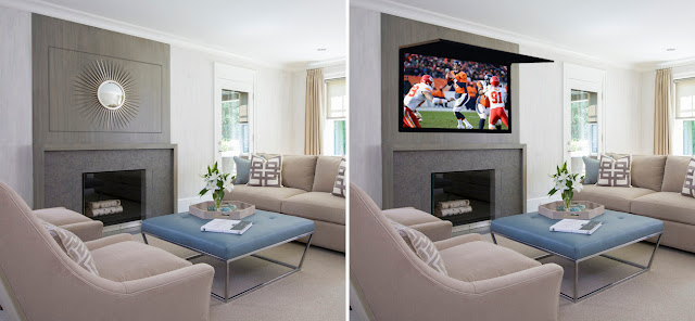 Hidden TV Cabinet With TVCoverUps