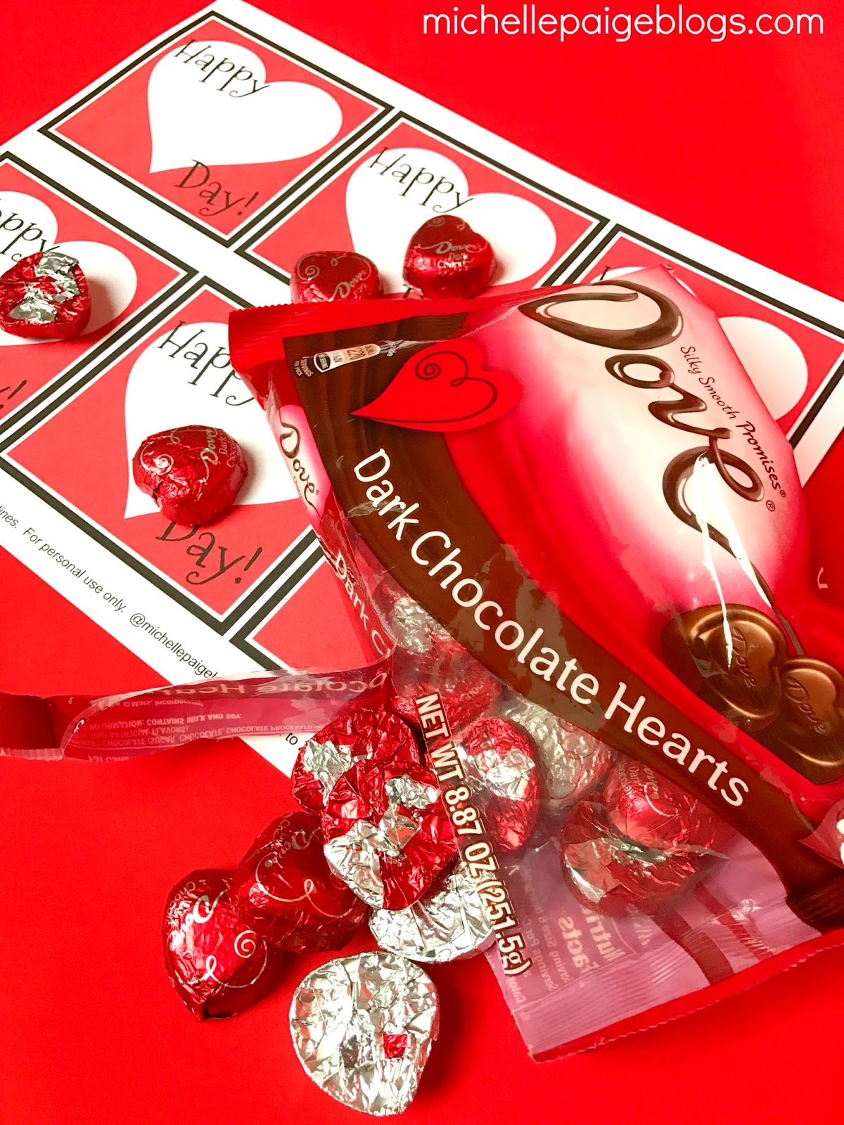 Michelle Paige Blogs Chocolate Candy Heart Valentines