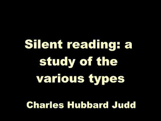 Silent reading: a study of the various types