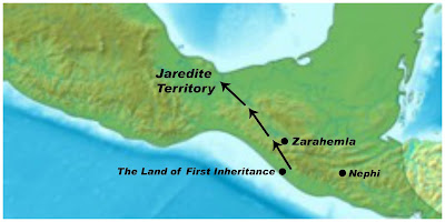 Limhi's men discover Jaredite territory while trying to find Zarahemla