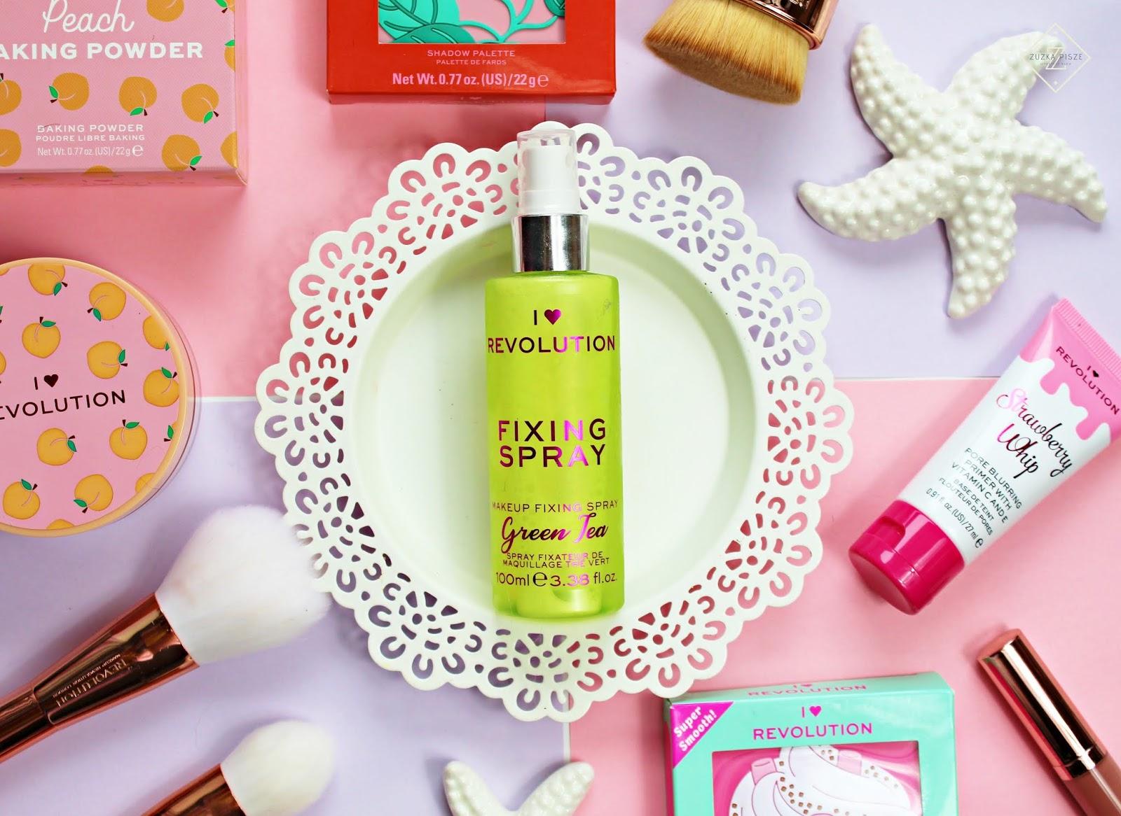 I Heart Revolution Fixing Spray Green tea - mgiełka utrwalająca do twarzy